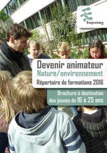 Illustration brochure animateur nature/environnement