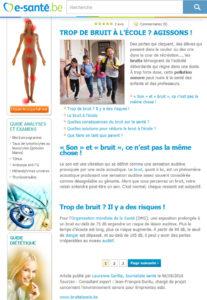 Illustration de l'articloe aprut dans le magazine e-santé