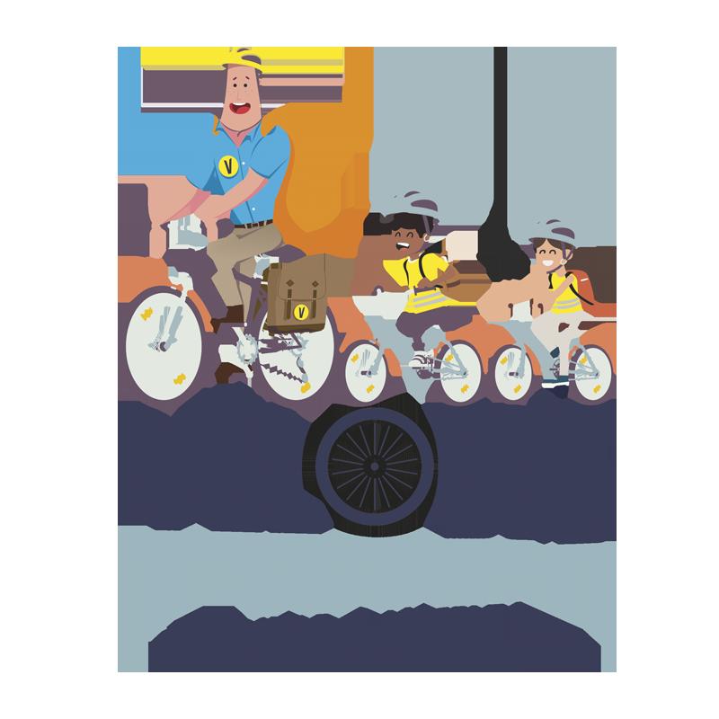 Vélobus, aller à l'école en groupe à vélo